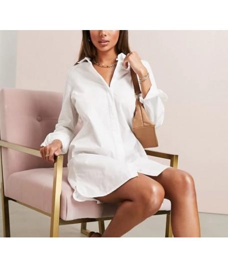 Vestido camisa blanco