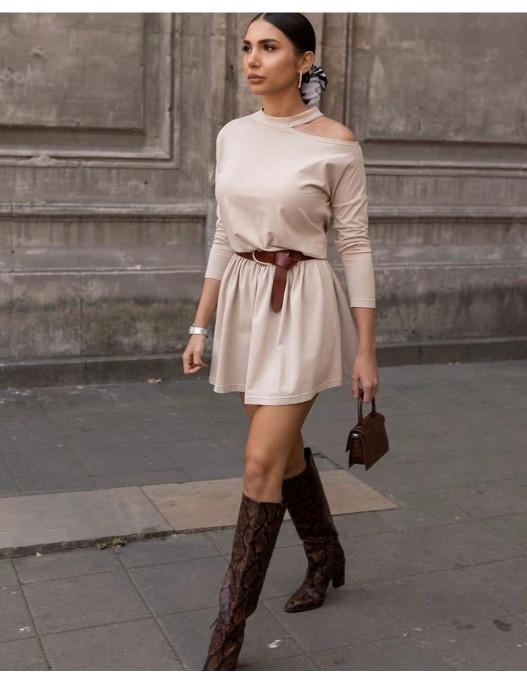 Vestido 1 manga algodón
